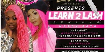Lash Tee and K Royelle Learn to Lash Seminar