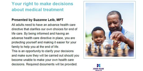 Advance Health Care Directives tickets