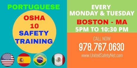 OSHA 10 Safety Training Portuguese - OSHA Portugues tickets