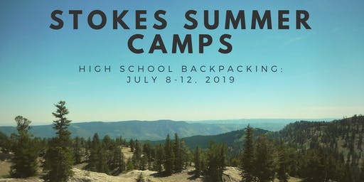 High School Backpacking Program (July 8-12, 2019)