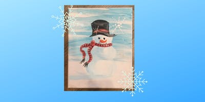 Snowman Canvas Kids Paint Class