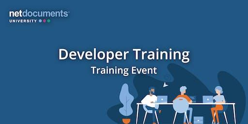 NetDocuments Developer Training | Lehi, UT | Oct 23–24, 2019
