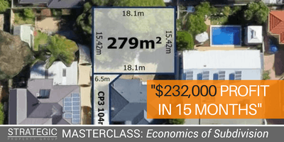 Property Development Masterclass: Economics of Subdivision
