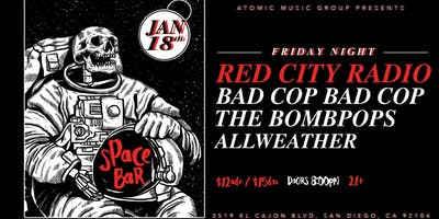 RED CITY RADIO | BAD COP / BAD COP |THE BOMBPOPS at Space Bar
