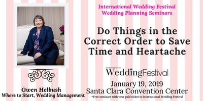 Seminar for Brides & Grooms: Do Things in the Correct Order to Save Time and Heartache
