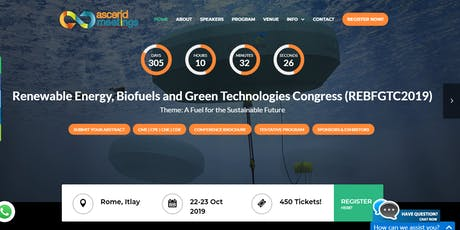 Renewable Energy, Biofuels and Green Technologies Congress tickets
