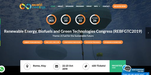 Renewable Energy, Biofuels and Green Technologies Congress