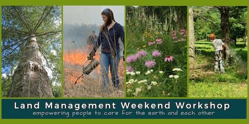 Land Management Weekend Workshop at Eagle Bluff
