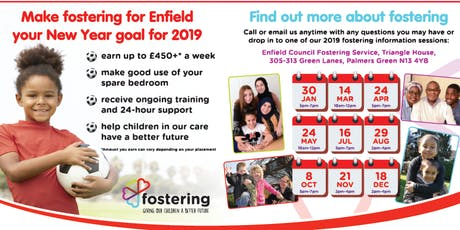 Find out about fostering with Enfield Council tickets