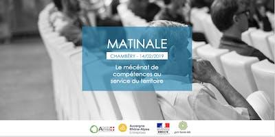 Matinale à Chambéry : Le mécénat de compétences au service du territoire
