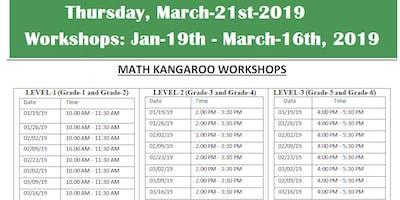 Math Kangaroo Workshop-2018/2019 (Grades: 1-6), 8- 90 Min Sessions