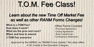 T.O.M. Fee Class (RANM Forms Update-Core Elective)