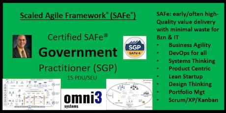 *SGP_SAFe Government Practitioner [SGP] San Antonio, 15 PDUs tickets
