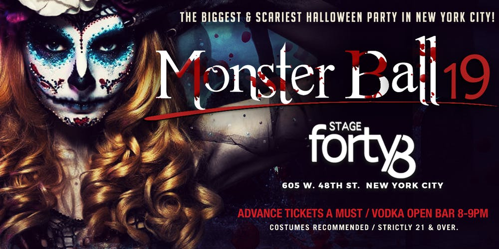 07255dc32753 The Monster Ball - NYC's Biggest Saturday Night Halloween Party @ Stage48  Tickets, Sat, Oct 26, 2019 at 9:30 PM | Eventbrite