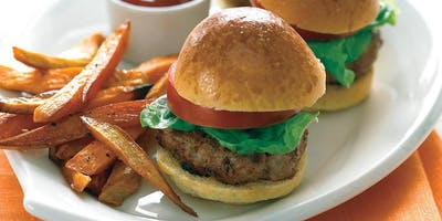 Kids in the Kitchen-Turkey Burger Sliders at Soule' Studio