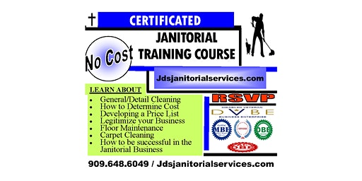 *NO COST* JANITORIAL TRAINING COURSE (MONDAY'S ONLY)
