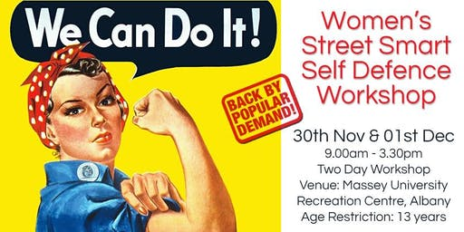Women's Street Smart Self Defence Workshop - Massey University, Albany, Auckland Nov 2019