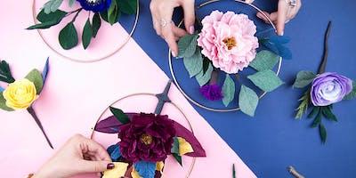 Paper Flower Wreath Workshop