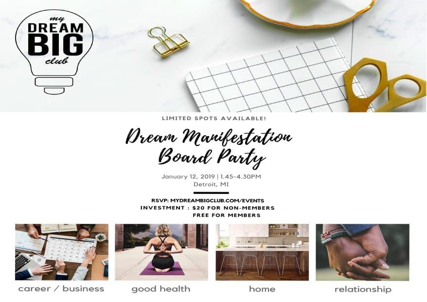 Dream Manifestation Board Party