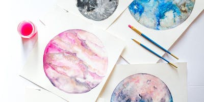 Makers Workshop: Watercolor Moons & Planets