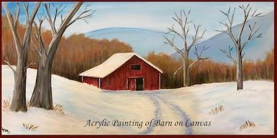 Paint a Barn on Canvas or Slate