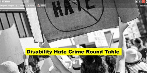 Local Voices Disability Hate Crime Round Table - 09 Oct 2019
