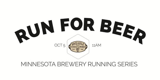 Beer Run - Sociable Cider Werks - Part of the 2019 MN Brewery Running Series