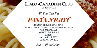 All you can eat PASTA night