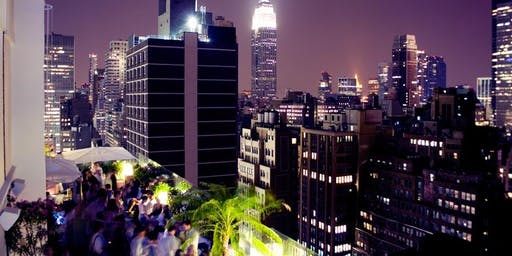 HALLOWEEEN SATURDAY NIGHT PARTY | Sky Room NYC Tallest Rooftop Bar Lounge  Times Square