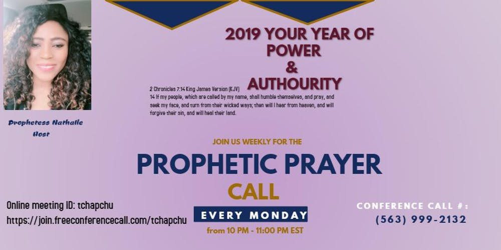 PRAYER CALL WITH PROPHETIC INSIGHT (Free) Tickets, Multiple Dates