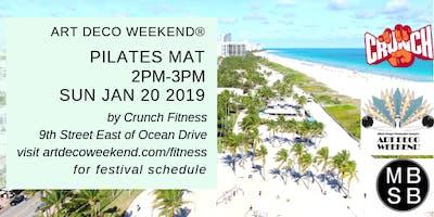 Pilates Mat @ Art Deco Weekend by Crunch Fitness