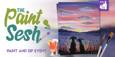 "Paint night in Riverside, CA – ""A Dogs Life"" with The Paint Sesh"