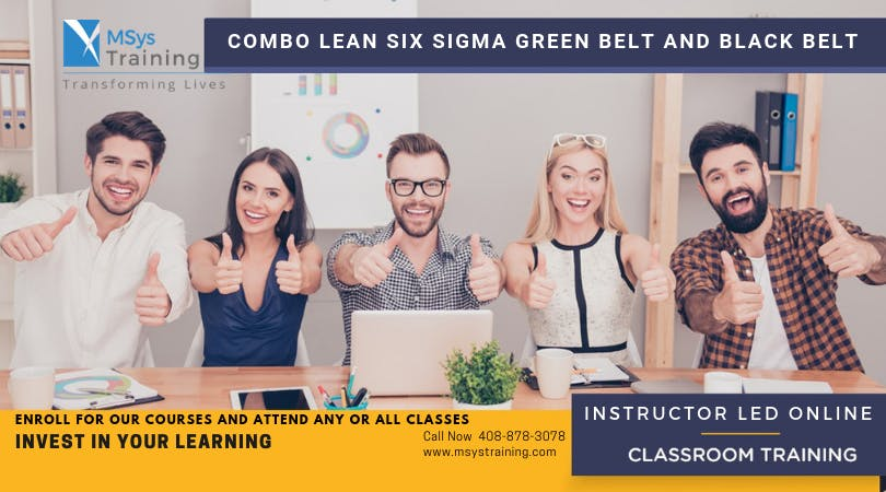 Combo Lean Six Sigma Green Belt and Black Belt Certification Training In Chula Vista, CA