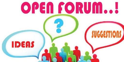 Open Forum August