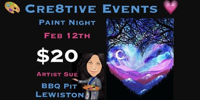 $20 Paint Party Night at BBQ Pit in Lewiston