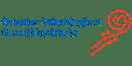 Greater Washington Suzuki Institute 2019 tickets