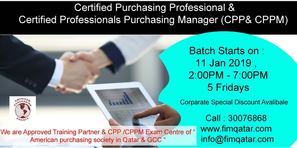 Certified Purchasing Professionals Manager Cppcppm Aps Usa