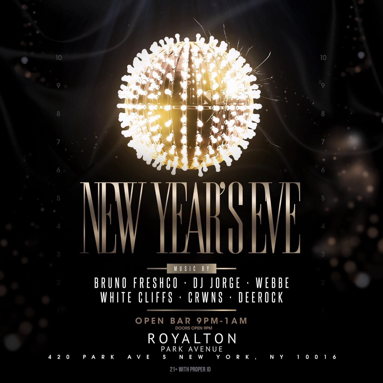 New Year's Eve 2019 at Royalton Park Avenue w/ 4 Hour Open Bar