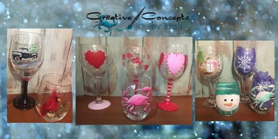 Winter & Valentine Glass Paint Night