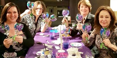 Beer / Wine Glass Painting Class at Low Road Bar & Grill