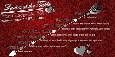 Ladies at the Table- Valentines Day Program