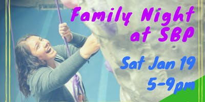 Family Night at Seattle Bouldering Project