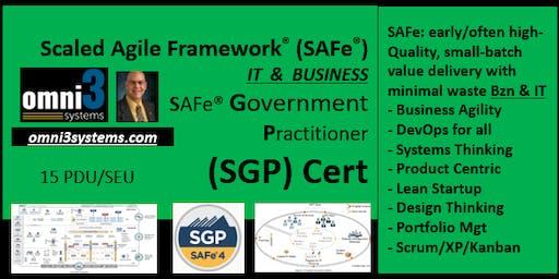 ~SGP- SAFe Government Practitioner [SGP] O'Fallon, Illinois, 15 PDUs~