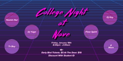 COLLEGE NIGHT AT WAVE: 80's House Party