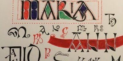 Calligraphy Classes -  Angular Letters Draw/Decorate