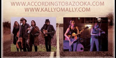 A Lively Evening of Catchy Folk-Pop with According to Bazooka plus The O'Mally Sisters: Kally & Ally