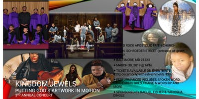 Kingdom Jewels Putting God's Artwork In Motion 3rd Annual concert
