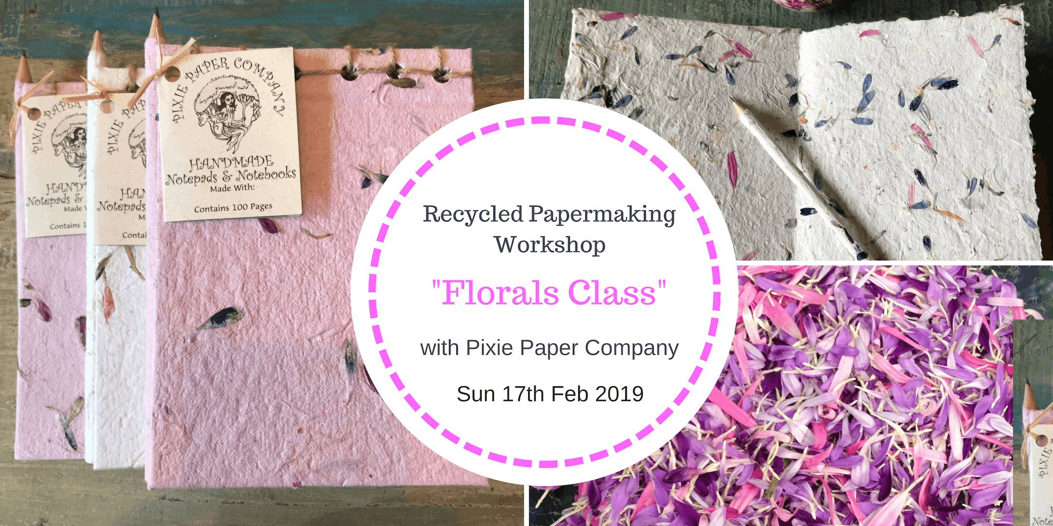 Recycled Paper Making Workshop - Florals Clas