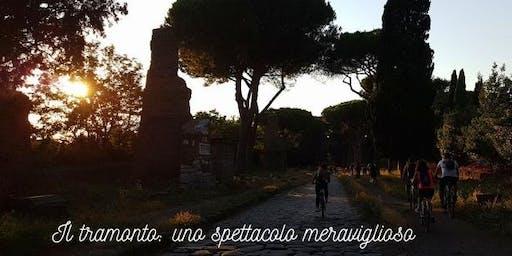 Tramonto in bici sull'Appia Antica