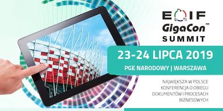 Największa w Polsce konferencja o elektronicznym obiegu informacji - Summit EOIF GigaCon tickets